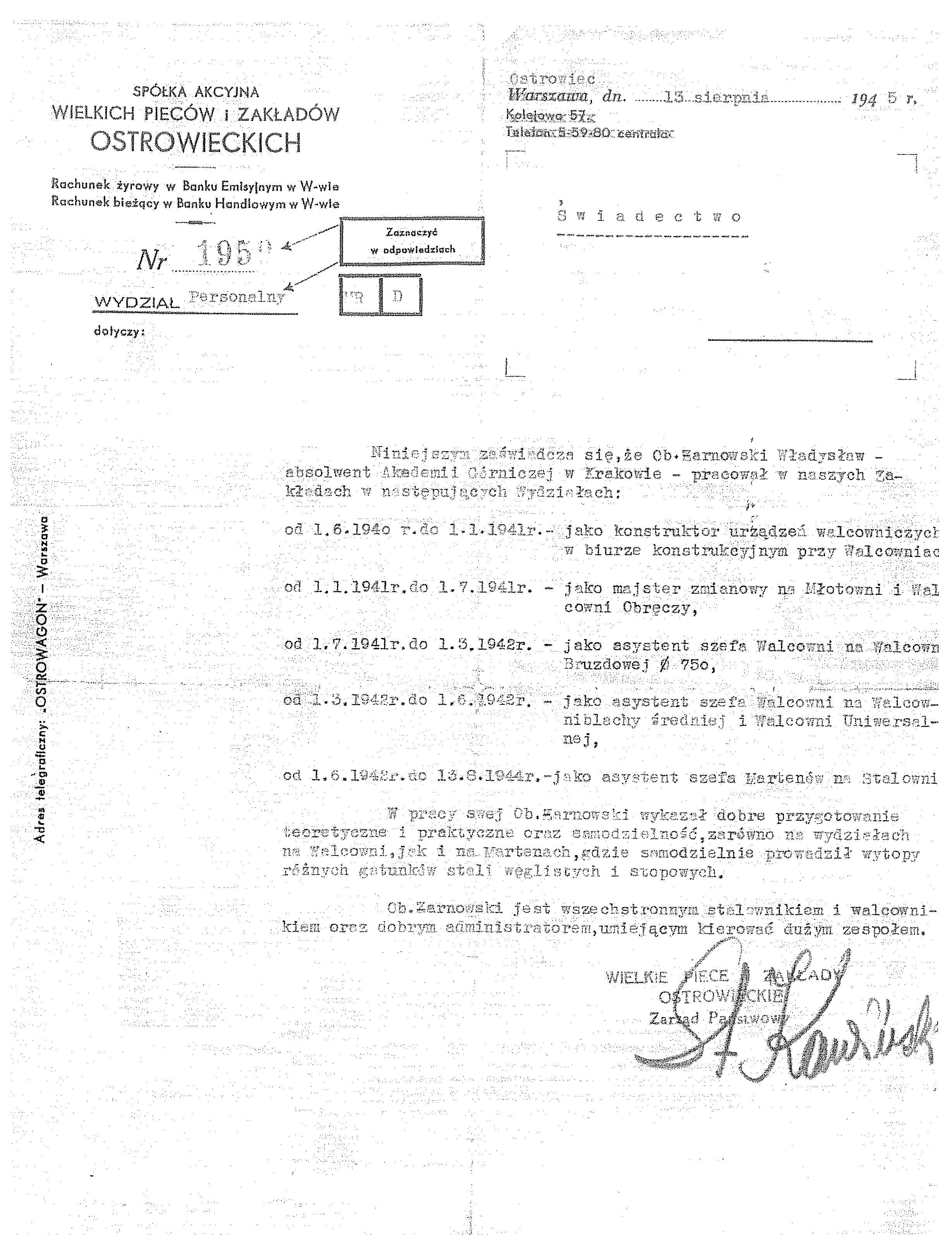 Żarnowski Wł_Z-dy Ostrowieckie 1940-1944