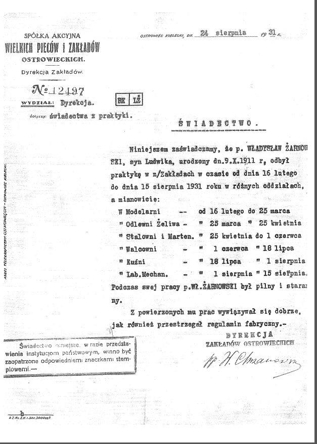 Żarnowski Wł_Z-dy Ostrowieckie 1931